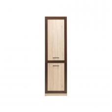 Vienų durų spinta su lentynomis