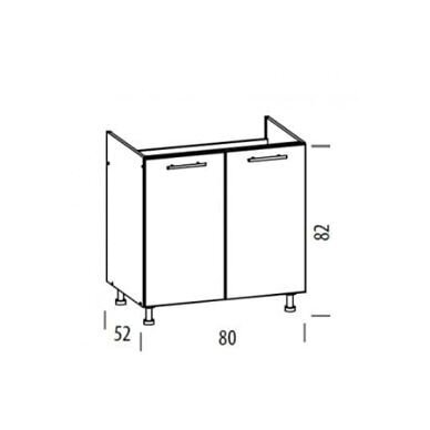 Virtuvės baldų kompektas 230cm 2