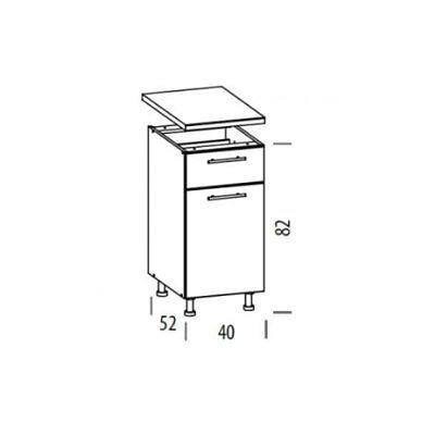 Virtuvės baldų kompektas 230cm 3